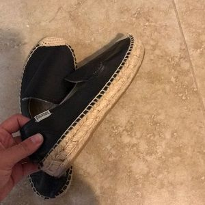 Soludos Shoes - Soludos black leather espadrille size 6